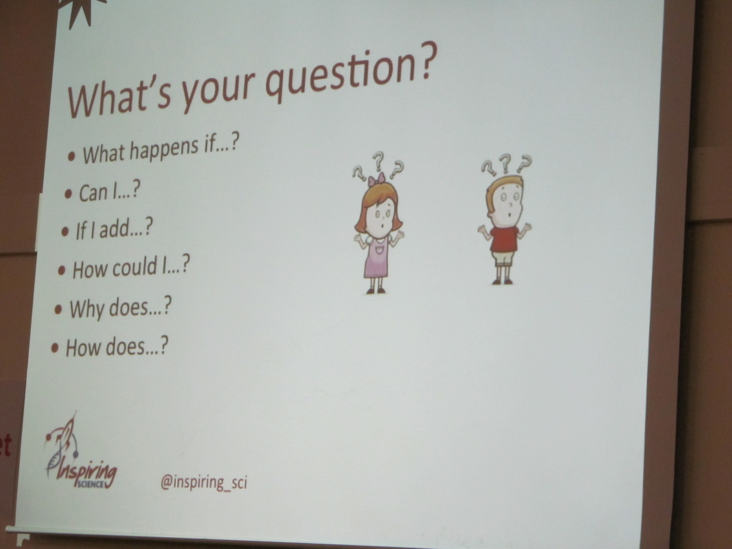 teachmeet chesterictproject anne buckley and kim harvey s inspiring sci presentation had a lengthy title children generating questions to investigate in science how to use simple